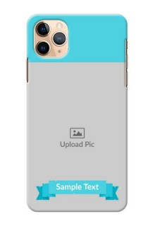 Iphone 11 Pro Max Personalized Mobile Covers: Simple Blue Color Design