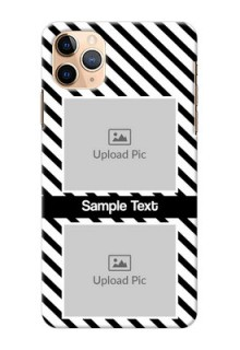 Iphone 11 Pro Max Back Covers: Black And White Stripes Design