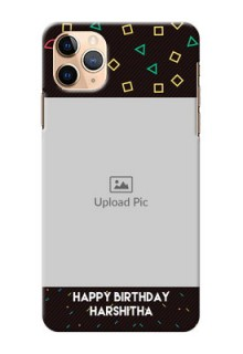 Iphone 11 Pro Max custom mobile cases with confetti birthday design