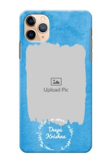 Iphone 11 Pro Max custom mobile cases: Blue Color Vintage Design