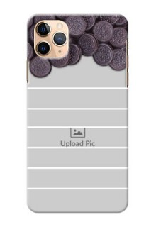 Iphone 11 Pro Max Custom Mobile Covers with Oreo Biscuit Design
