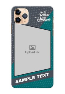 Iphone 11 Pro Max Back Covers: Background Pattern Design with Quote
