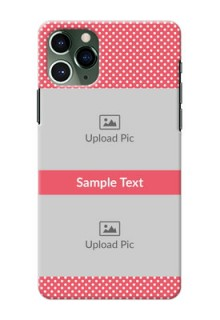 Iphone 11 Pro Custom Mobile Case with White Dotted Design