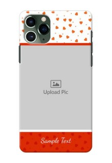 Iphone 11 Pro Phone Back Covers: Orange Love Symbol Design
