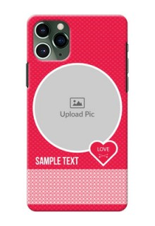 Iphone 11 Pro Mobile Covers Online: Pink Pattern Design