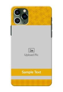 Iphone 11 Pro mobile phone covers: Yellow Floral Design