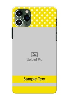 Iphone 11 Pro Custom Mobile Covers: Bright Yellow Case Design
