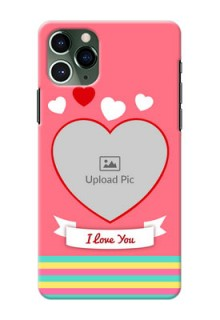 Iphone 11 Pro Personalised mobile covers: Love Doodle Design