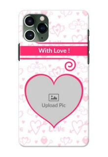 Iphone 11 Pro Personalized Phone Cases: Heart Shape Love Design