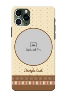 Iphone 11 Pro Mobile Cases: Brown Dotted Mobile Case Design