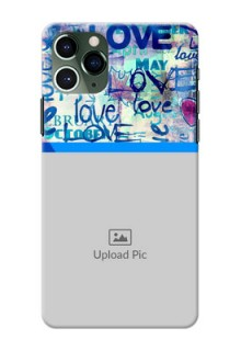 Iphone 11 Pro Mobile Covers Online: Colorful Love Design