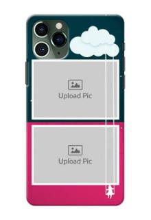 Iphone 11 Pro custom phone covers: Cute Girl with Cloud Design
