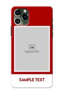 Iphone 11 Pro mobile phone covers: Simple Red Color Design