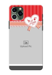 Iphone 11 Pro phone cases online: Red Love Pattern Design