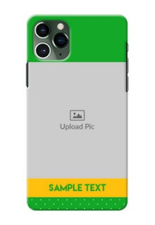 Iphone 11 Pro Personalised mobile covers: Green Pattern Design
