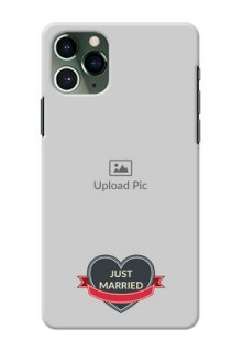 Iphone 11 Pro mobile back covers online: Just Married Couple Design