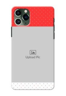 Iphone 11 Pro personalised phone covers: Red Pattern Design