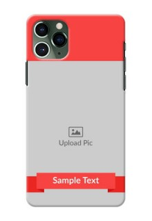 Iphone 11 Pro Personalised mobile covers: Simple Red Color Design