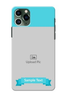 Iphone 11 Pro Personalized Mobile Covers: Simple Blue Color Design