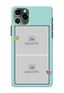 Iphone 11 Pro Custom Phone Cases: 2 Image Holder with Pattern Design