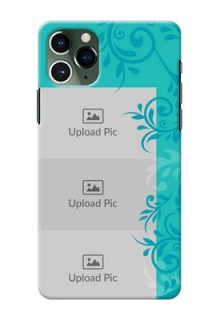 Iphone 11 Pro Mobile Cases with Photo and Green Floral Design