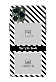 Iphone 11 Pro Back Covers: Black And White Stripes Design