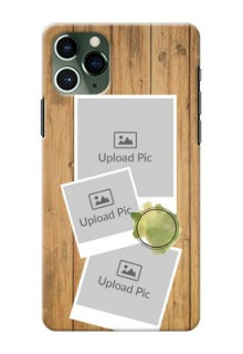 Iphone 11 Pro Custom Mobile Phone Covers: Wooden Texture Design