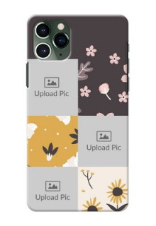 Iphone 11 Pro phone cases online: 3 Images with Floral Design