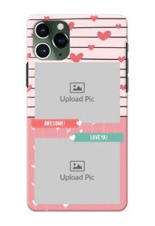 Iphone 11 Pro custom mobile covers: Photo with Heart Design
