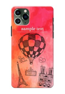 Iphone 11 Pro Personalized Mobile Covers: Paris Theme Design