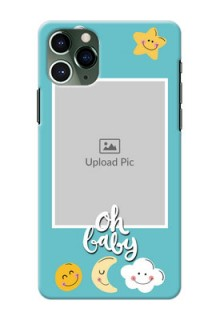 Iphone 11 Pro Personalised Phone Cases: Smiley Kids Stars Design