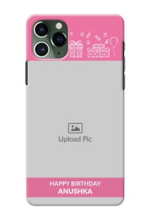 Iphone 11 Pro Custom Mobile Cover with Birthday Line Art Design