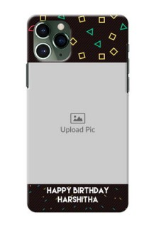 Iphone 11 Pro custom mobile cases with confetti birthday design