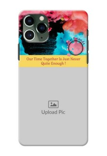 Iphone 11 Pro Mobile Cases: Quote with Acrylic Painting Design