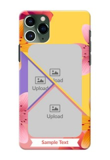 Iphone 11 Pro Mobile Covers: 3 Image With Vintage Floral Design