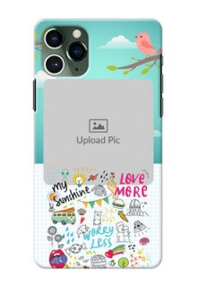 Iphone 11 Pro phone cases online: Doodle love Design