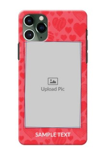 Iphone 11 Pro Mobile Back Covers: with Red Heart Symbols Design