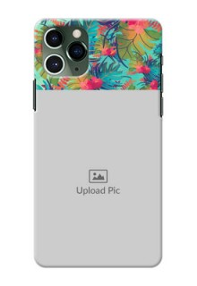 Iphone 11 Pro Personalized Phone Cases: Watercolor Floral Design
