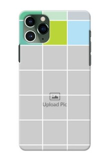 Iphone 11 Pro personalised phone covers with white box pattern