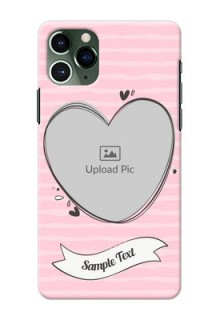 Iphone 11 Pro custom mobile phone covers: Vintage Heart Design