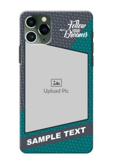 Iphone 11 Pro Back Covers: Background Pattern Design with Quote