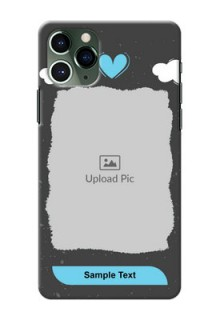 Iphone 11 Pro Mobile Back Covers: splashes with love doodles Design