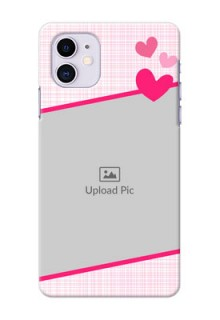 Iphone 11 Personalised Phone Cases: Love Shape Heart Design