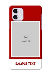 Iphone 11 mobile phone covers: Simple Red Color Design