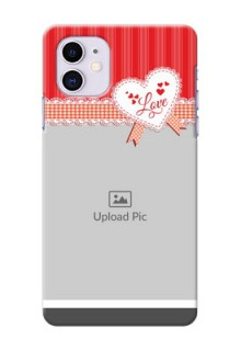 Iphone 11 phone cases online: Red Love Pattern Design
