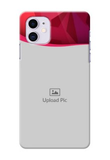 Iphone 11 custom mobile back covers: Red Abstract Design
