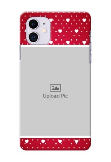 Iphone 11 custom back covers: Hearts Mobile Case Design