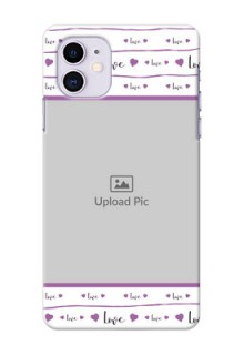 Iphone 11 Mobile Back Covers: Couples Heart Design