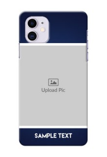 Iphone 11 Mobile Cases: Simple Royal Blue Design