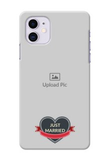 Iphone 11 mobile back covers online: Just Married Couple Design